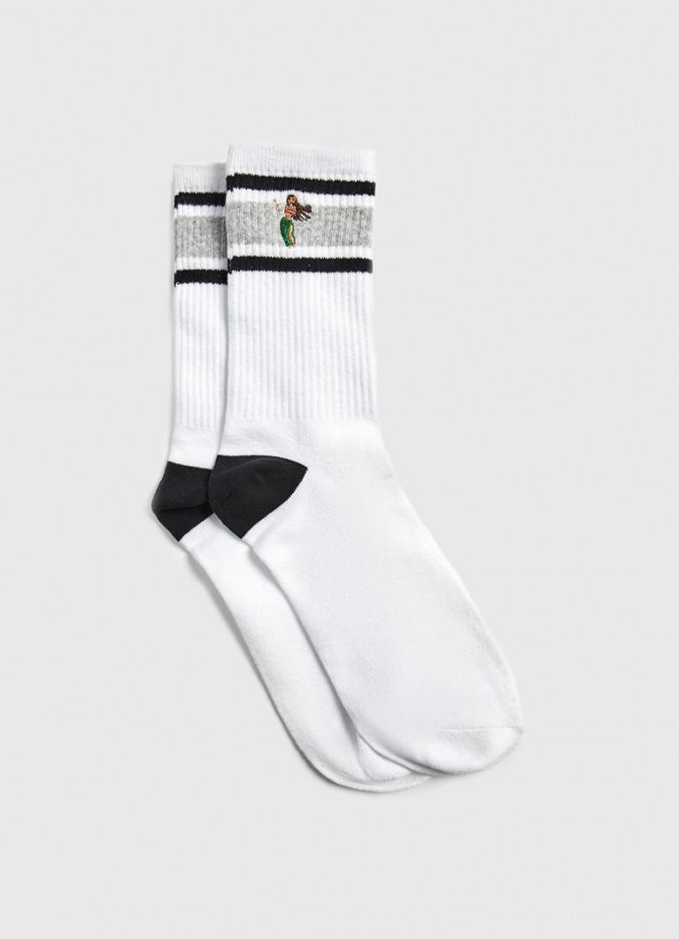 Носки с полосками на резинке