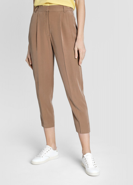 Зауженные брюки из мягкой поливискозы