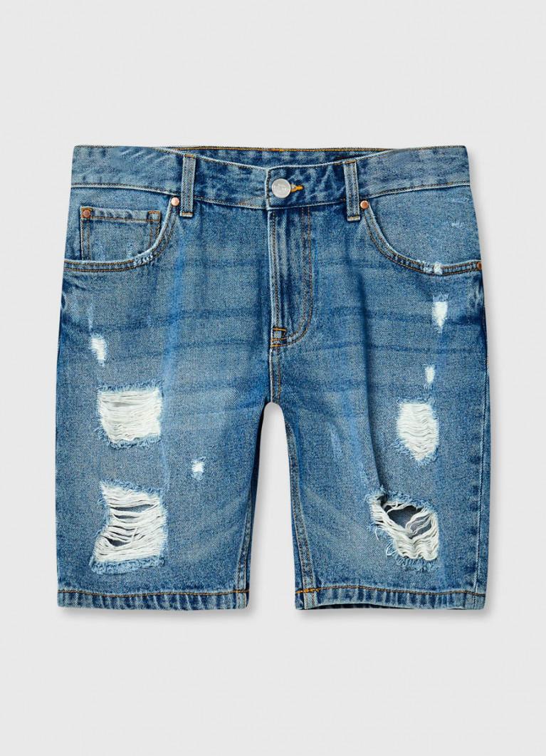 Мужские шорты O'Stin Джинсовые шорты с разрывами