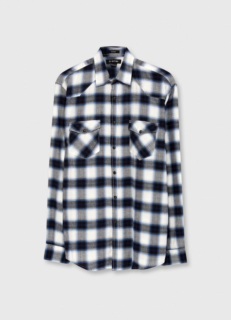 Рубашка из фланели в клетку