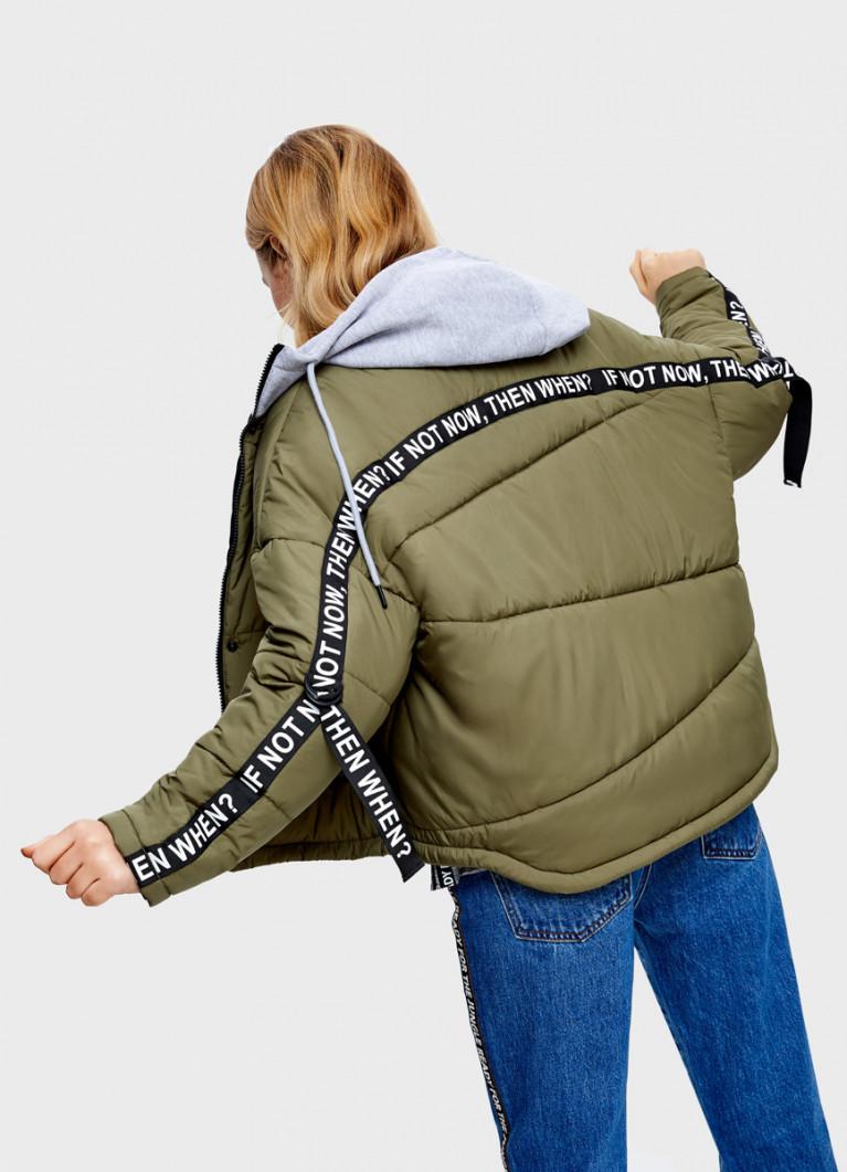 Утеплённая куртка с тесьмой