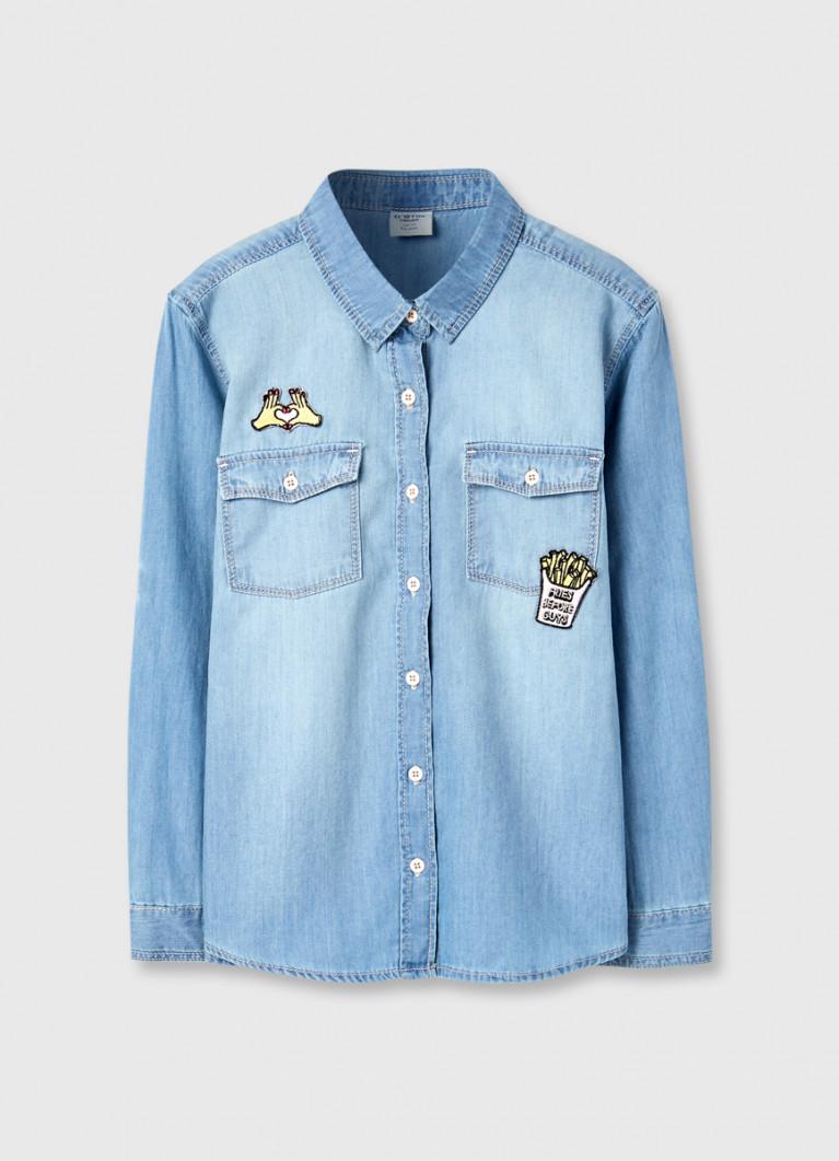 Джинсовая рубашка  для девочек