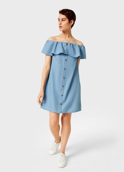 Платье с открытыми плечами прямое платье с открытыми плечами ake