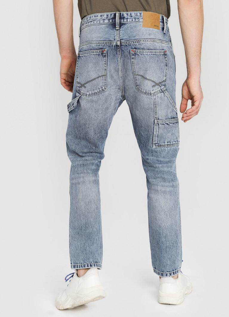 Мужские джинсы O'Stin Светло-голубые зауженные джинсы
