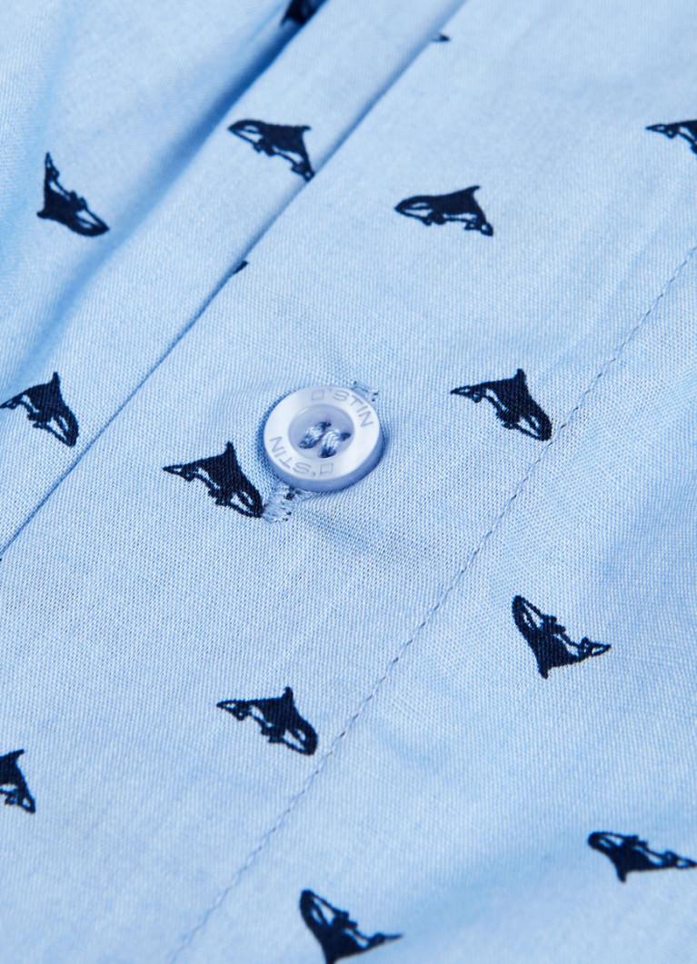 Текстильные трусы-боксеры с принтом «киты»