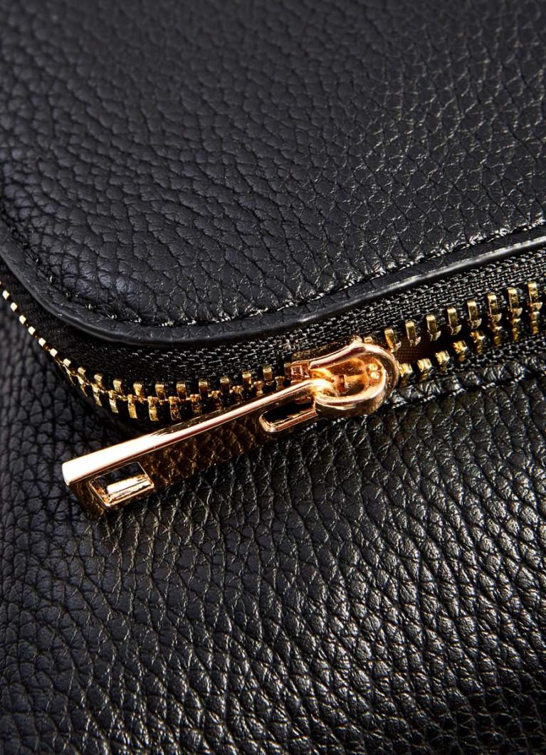 Сумка-сатчел с карманом на молнии