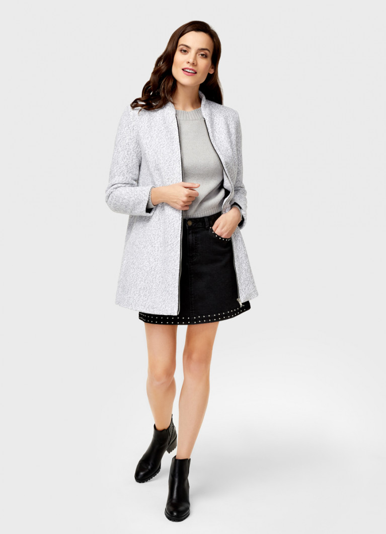 Пальто с воротником-стойкой