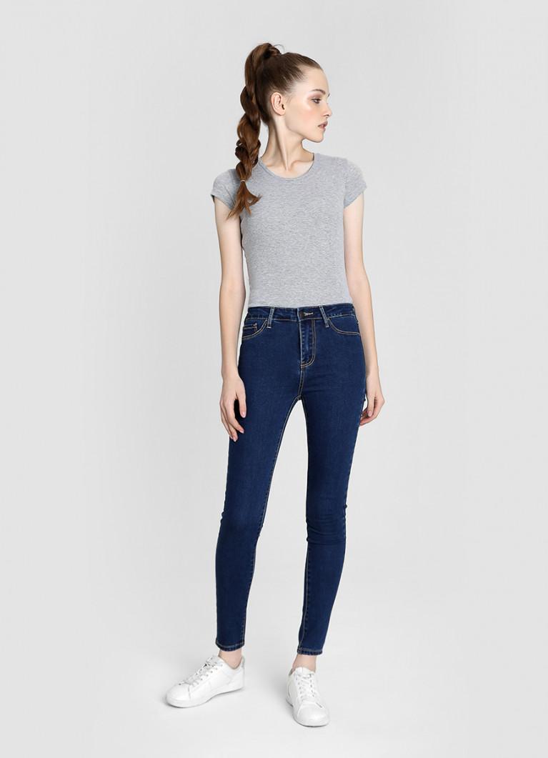 Женские джинсы O'Stin Базовые суперузкие джинсы с высокой посадкой
