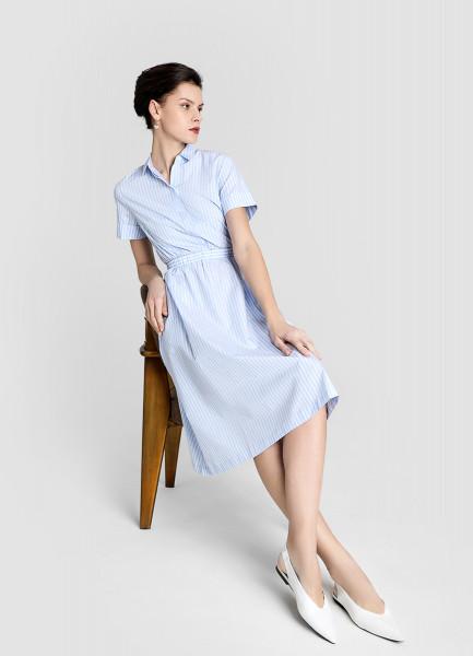 Платье из хлопка в полоску фото