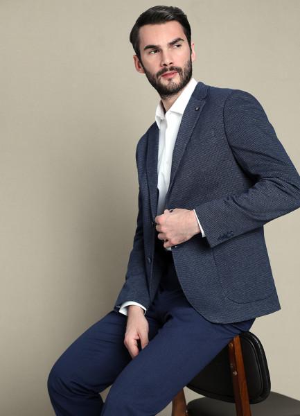 Пиджак из трикотажного полотна в «лапку» фото