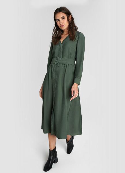 Платье из жатой вискозы