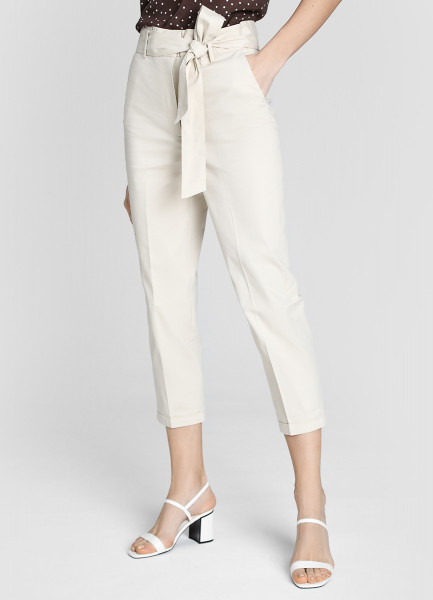 Зауженные брюки из хлопка фото