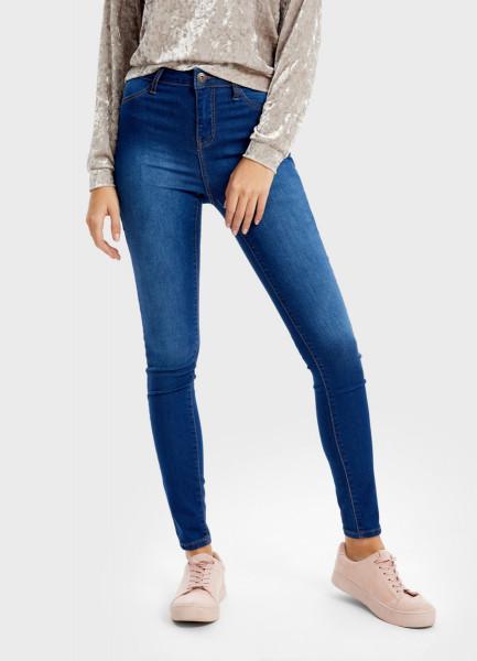 Узкие джинсы с высокой посадкой фото