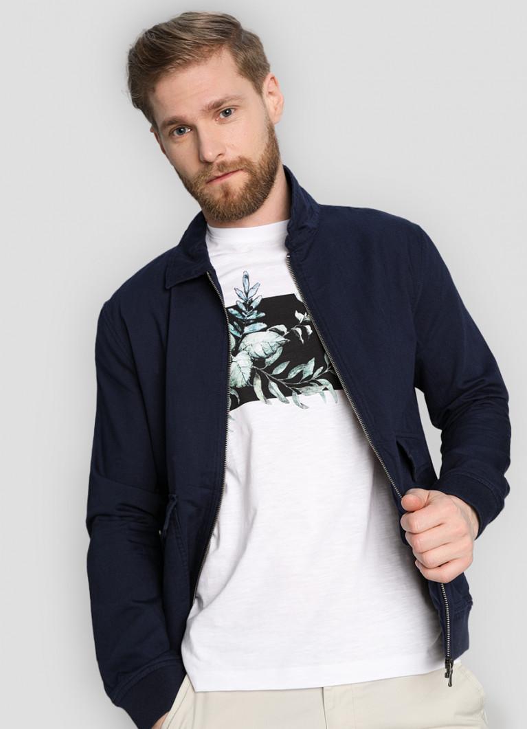 Пиджак O'Stin Бомбер из хлопка с накладными карманами