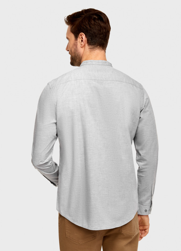 Рубашка из меланжевого хлопка