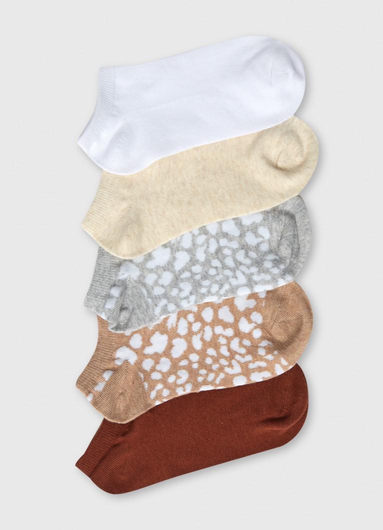 Короткие носки с жаккардом «леопард»