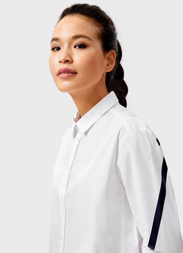 Блуза O'Stin Белая рубашка с контрастными лампасами