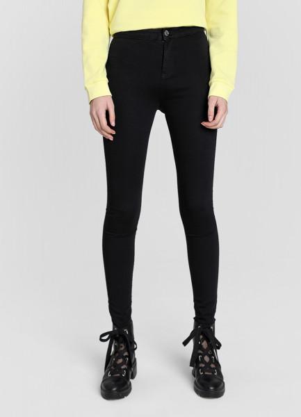 Суперузкие джинсы с высокой посадкой фото
