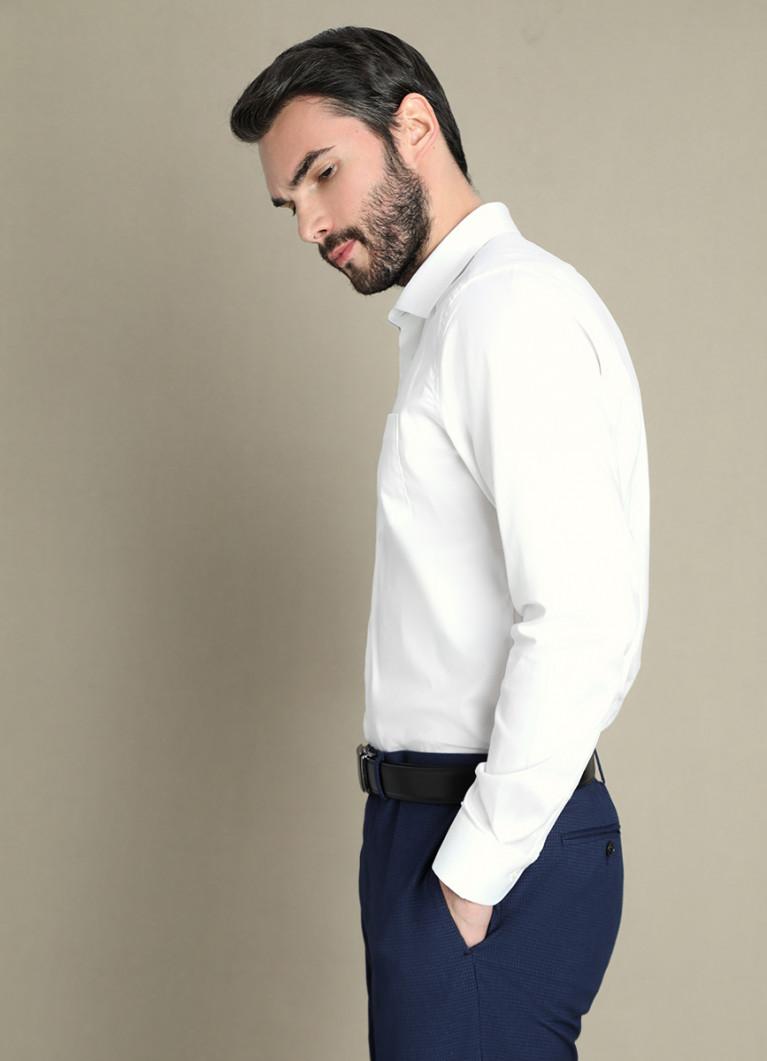 Рубашка O'Stin Рубашка с узором в «ёлочку»