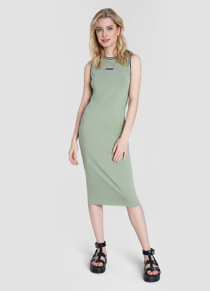 Платье-труба со слоган-принтом