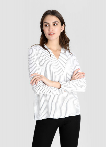 Блузка из модала в полоску фото