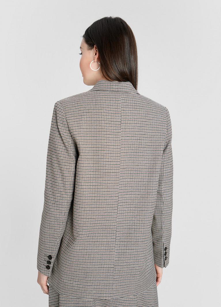 Пиджак в «гусиную лапку» с накладными карманами