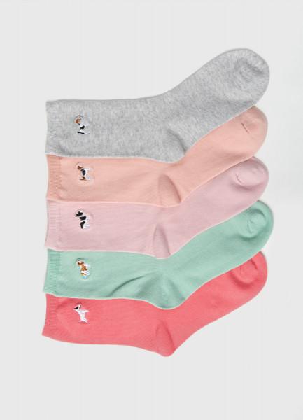 Комплект носков с вышивкой