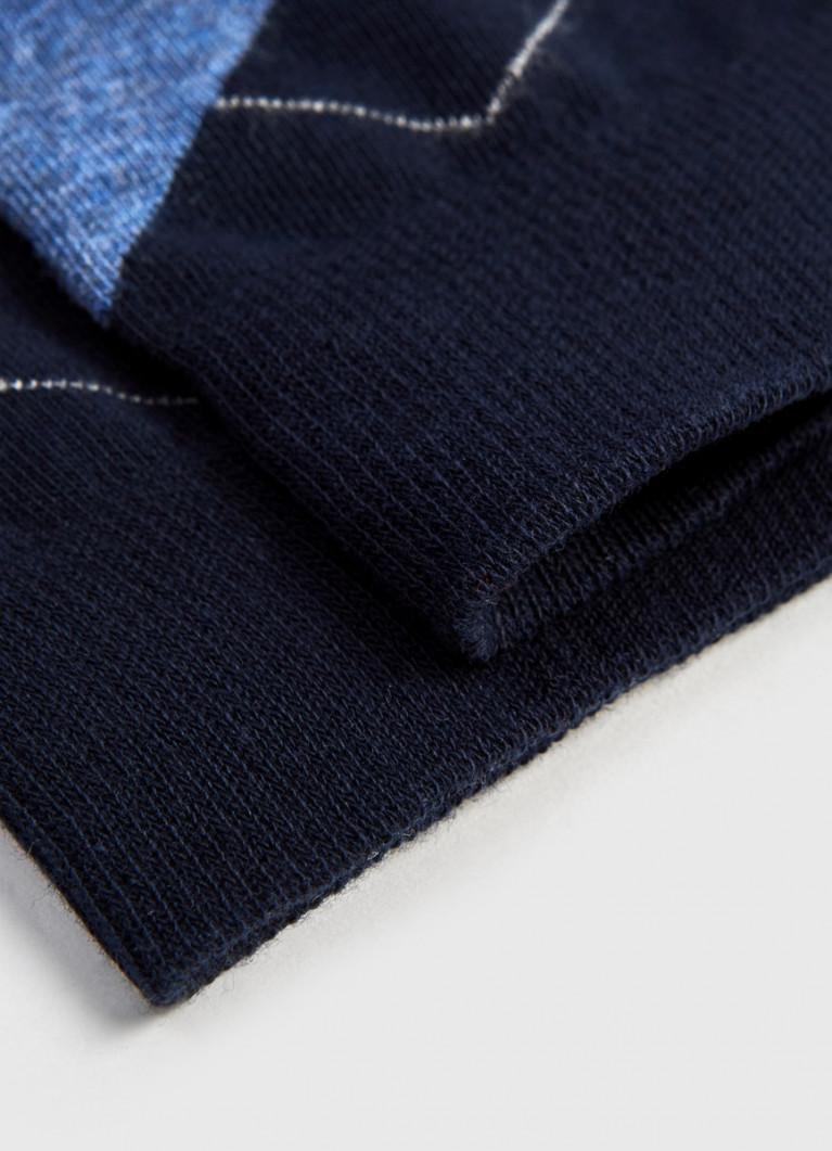 Носки с жаккардом «ромбы»