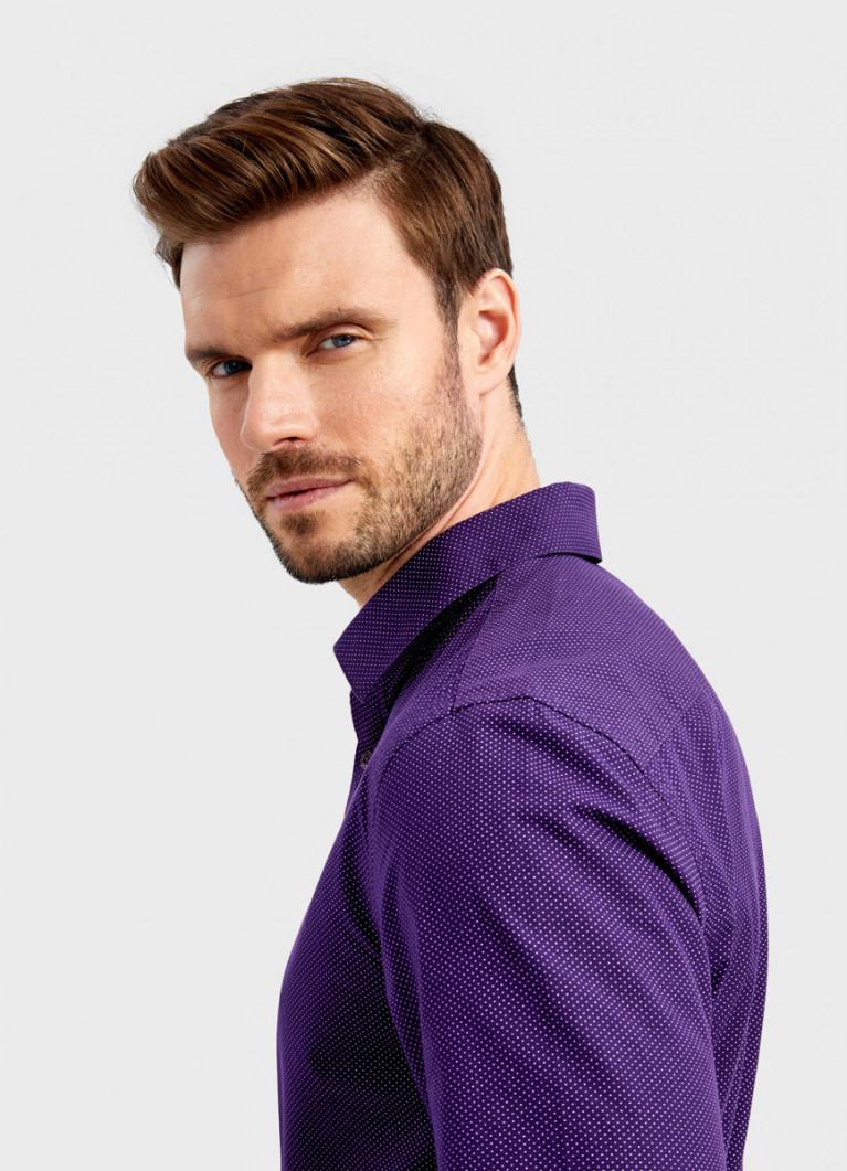 Рубашка с принтом в мелкий горошек