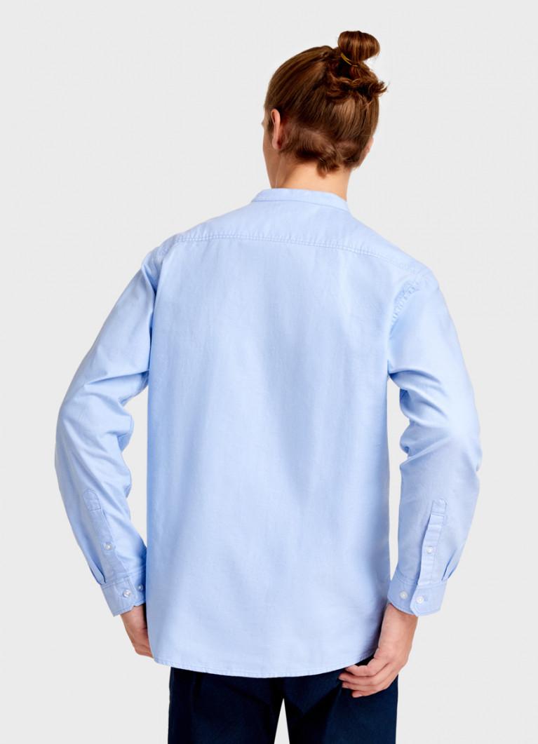 Однотонная рубашка из хлопка Oxford