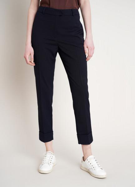 Прямые брюки с манжетами