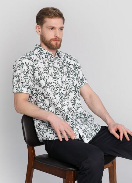 Рубашка из поплина с флоральным принтом фото