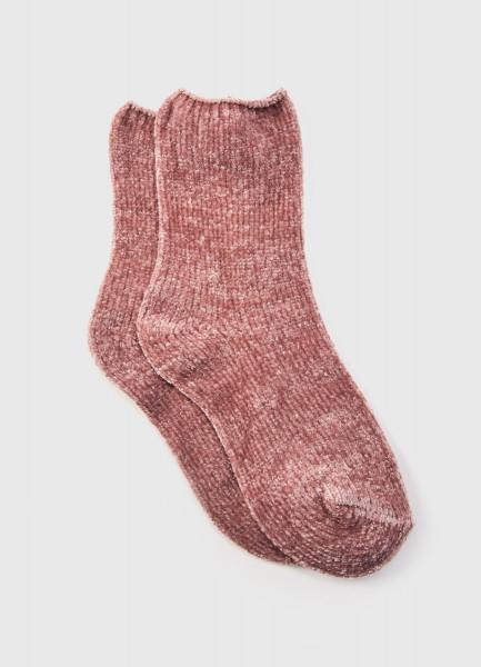 Носки из пряжи синель