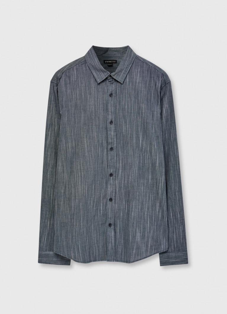 Рубашка в вертикальную полоску