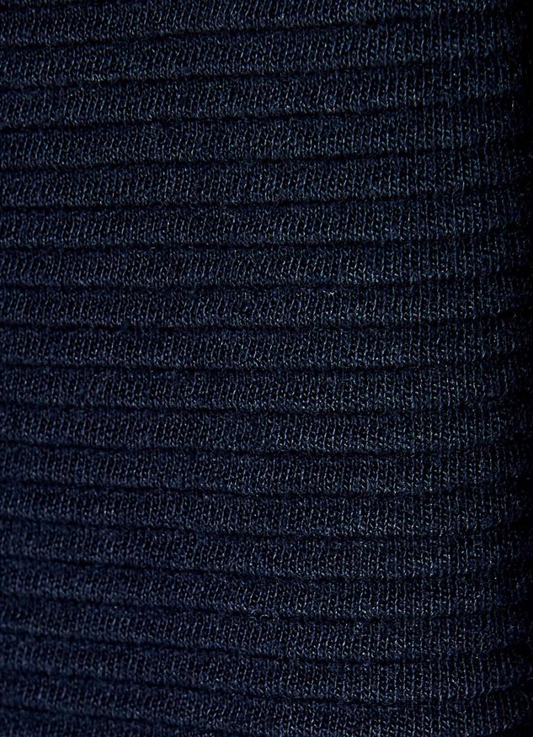 Кроёный джемпер с текстильным низом