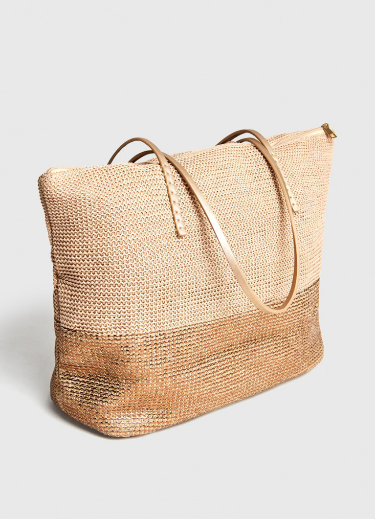 Сумка-шоппер плетёная