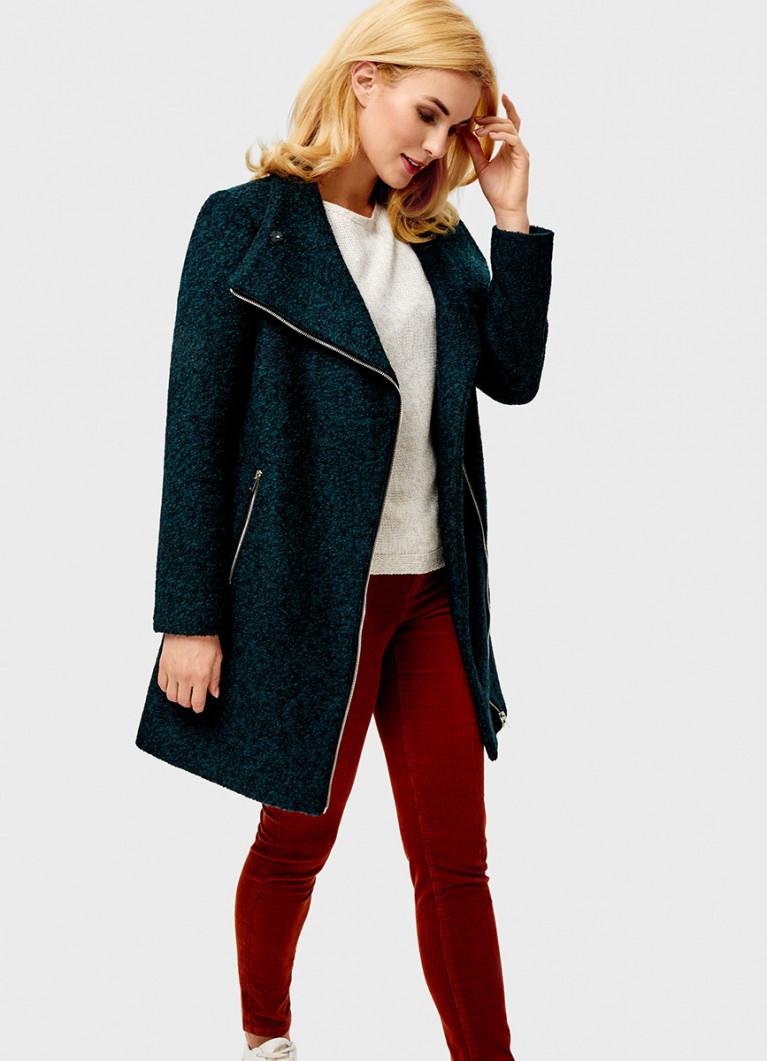 Женские пальто O'Stin Пальто на молнии прямого силуэта