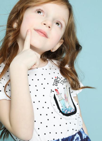 Трикотажная блузка для девочек фото