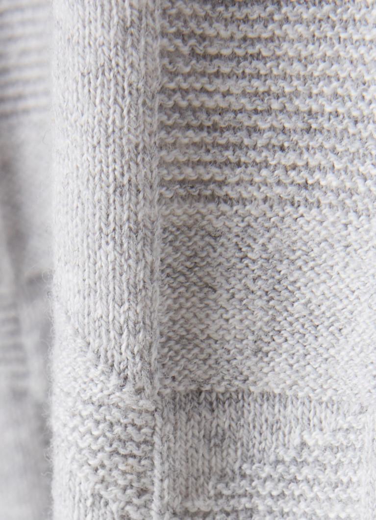 Джемпер структурной вязки