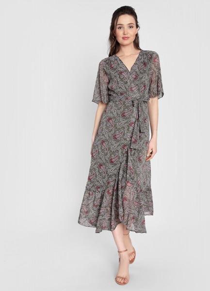 цена Платье макси из принтованного шифона онлайн в 2017 году