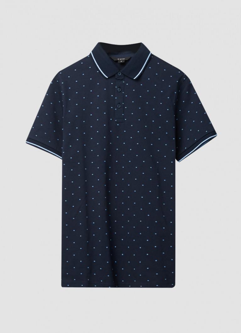 Мужские футболки поло O'Stin Рубашка-поло с микрогеометрическим принтом