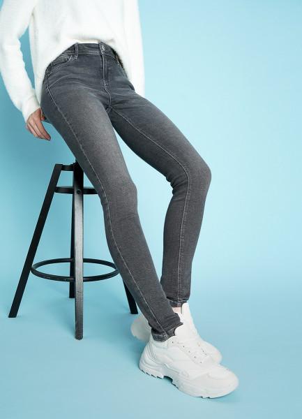 Светло-серые суперузкие джинсы