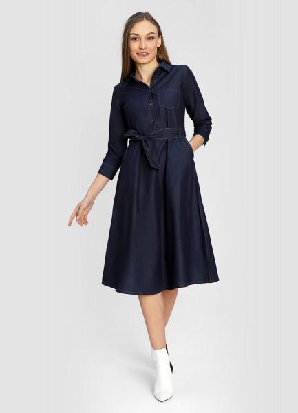 Платье из денимного эко-хлопка