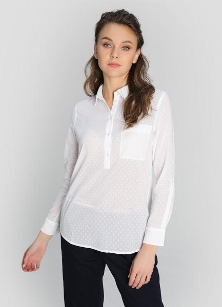 Блузка-туника из структурного хлопка фото