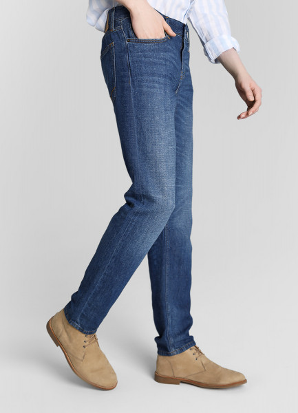 Зауженные джинсы изо льна фото