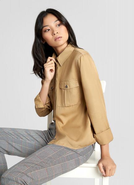 Тенсельная блузка со стиркой