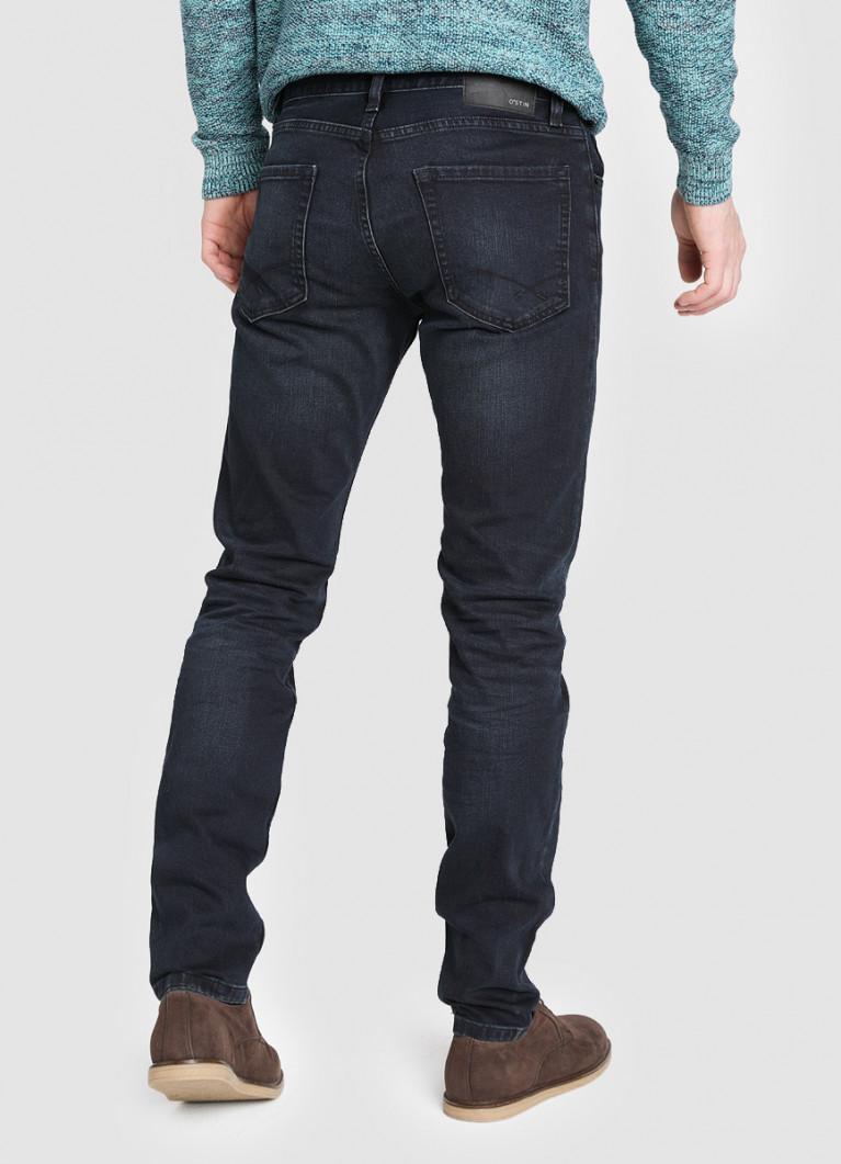 Мужские джинсы O'Stin Тёмно-синие зауженные джинсы