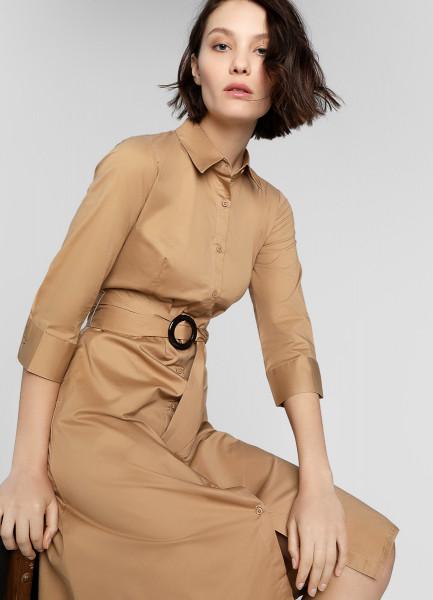 Платье-рубашка с роговой пряжкой