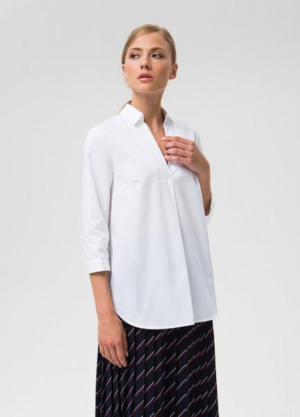 Рубашка из хлопка с V-вырезом