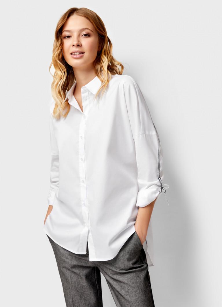 Рубашка с отделкой из тесьмы